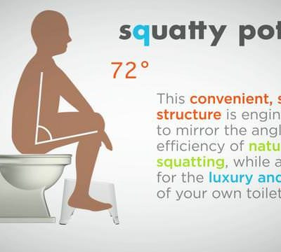 The Squatty Potty! (the right way to poop)
