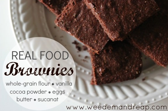 Real Food Brownies | Weed 'Em and Reap