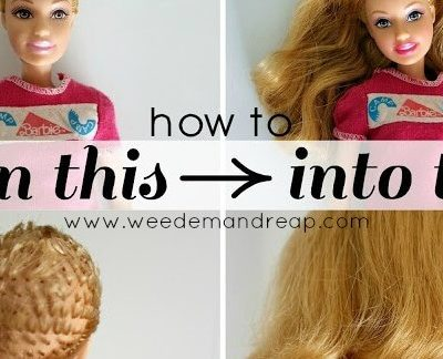 How to Fix ruined Barbie hair.