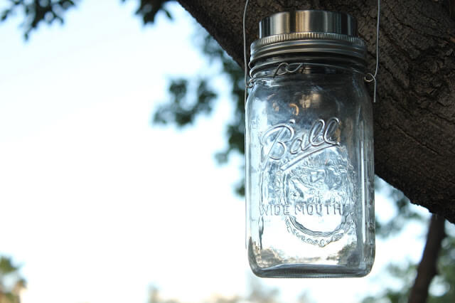 How to make a Mason Jar Solar Lamp!