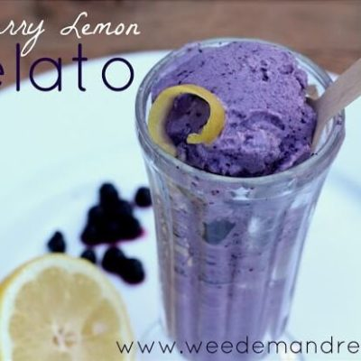 Blueberry Lemon GELATO!