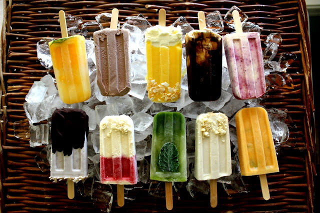 ten homemade popsicles