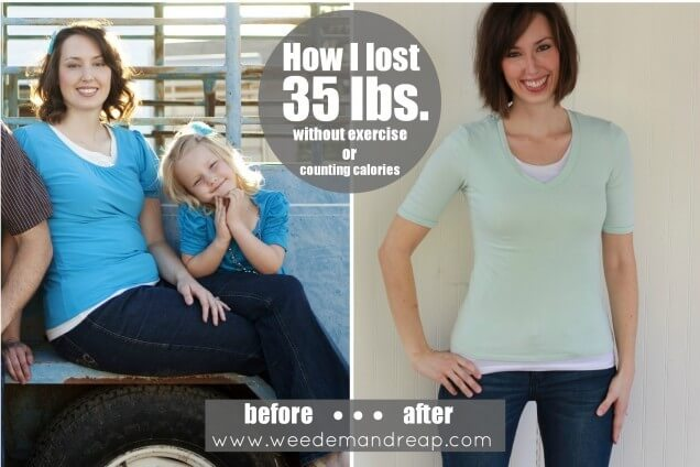 My Weight Loss Story: How I lost 35 lbs. Without Exercise or Counting ...