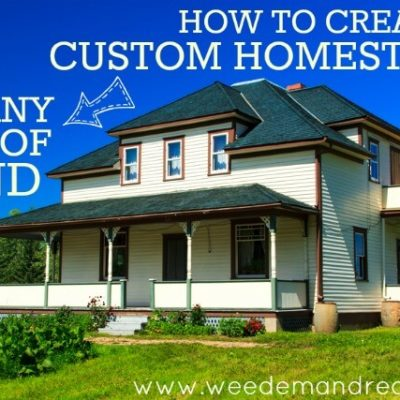 How to Create a Custom Homestead on ANY size of Land!