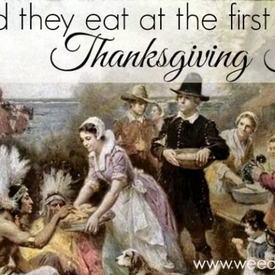 What did they eat at the first Thanksgiving Feast?