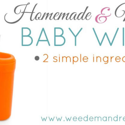 Homemade Natural Baby Wipes – Two simple ingredients!