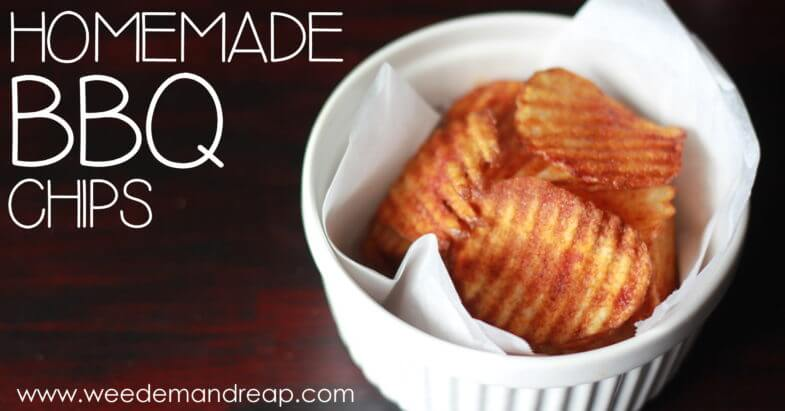 Homemade barbecue potato chips live healthy and blessed