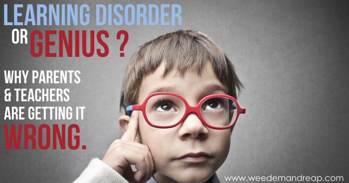Learning Disorder or Genius? Why parents & teachers are getting it wrong.