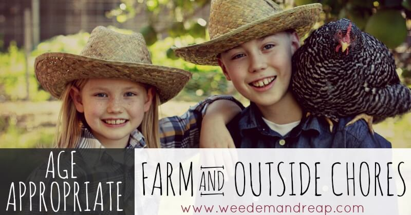 Age-appropriate Farm & Outside Chores