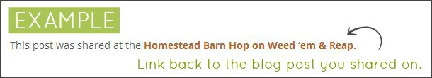 Example of the Homestead Barn Hop