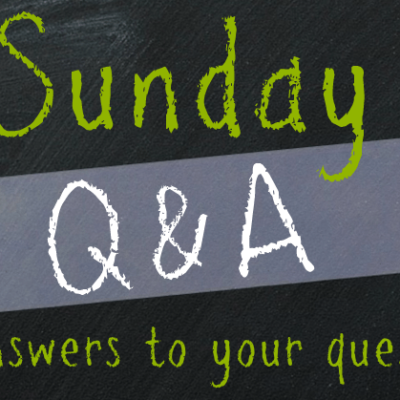 Sunday Q&A: Feb 2, 2014 {soaking, pasta, & school lunches}