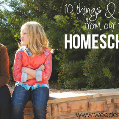 10 Things I learned from our FIRST year of Homeschooling