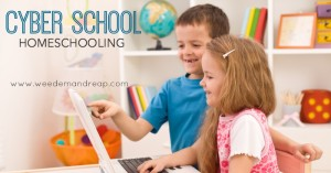 Kids doing homeschooling work