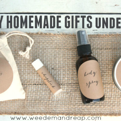 Easy Homemade Gifts Under $2