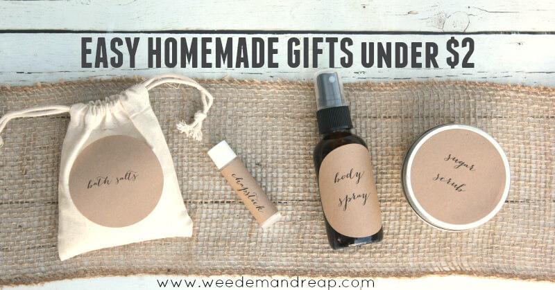 Easy Homemade Gift for under $2 each