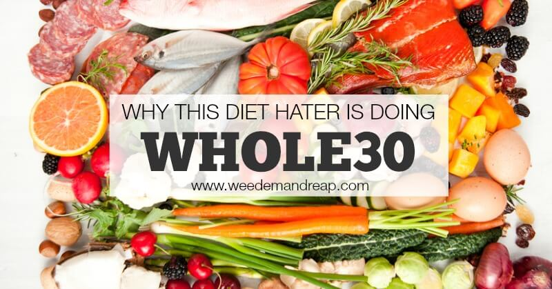 Anyone who knows me knows I'm 100% AGAINST diets. So what is it that's got me so excited about Whole30?