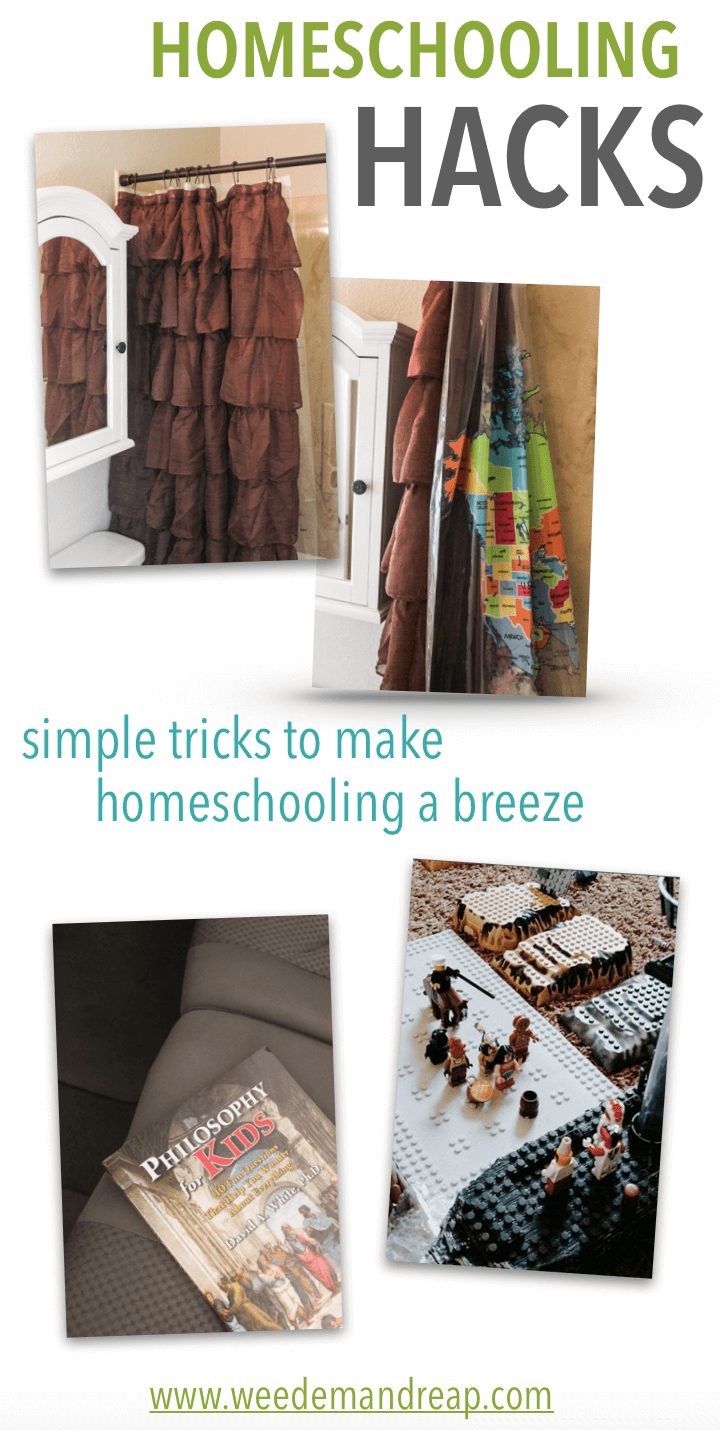 Homeschooling Hacks: Simple tricks to make homeschooling a breeze! | Weed 'Em and Reap
