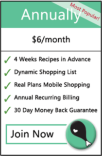 green and white module outlining an annual payment plan