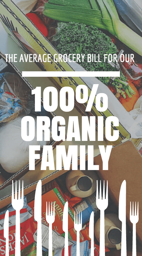 Grocery bill for an organic family of four