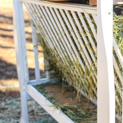 Homemade Hay Feeder (from FREE materials)