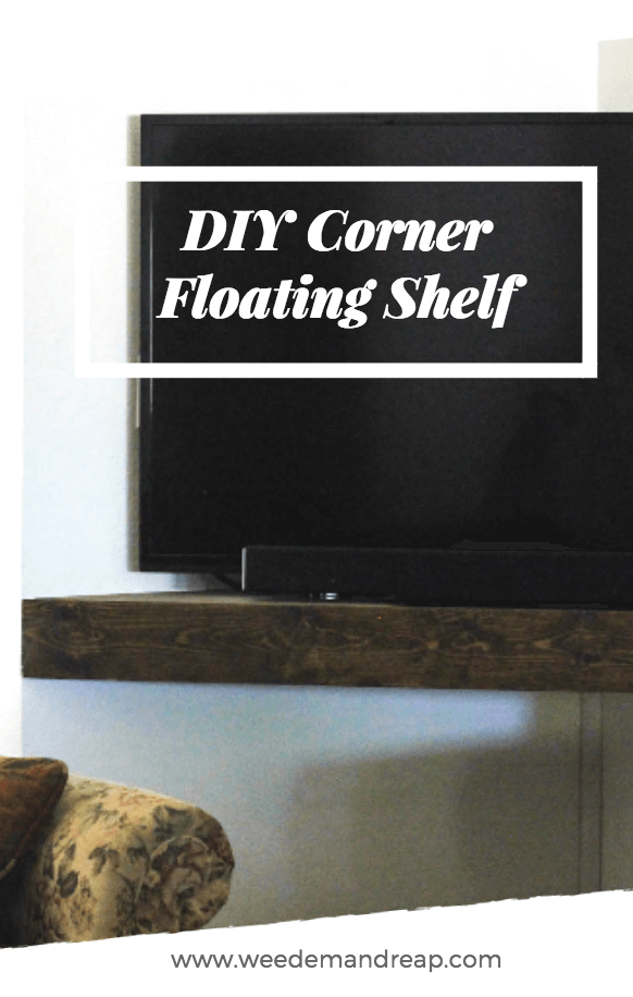 DIY Corner Floating Shelf