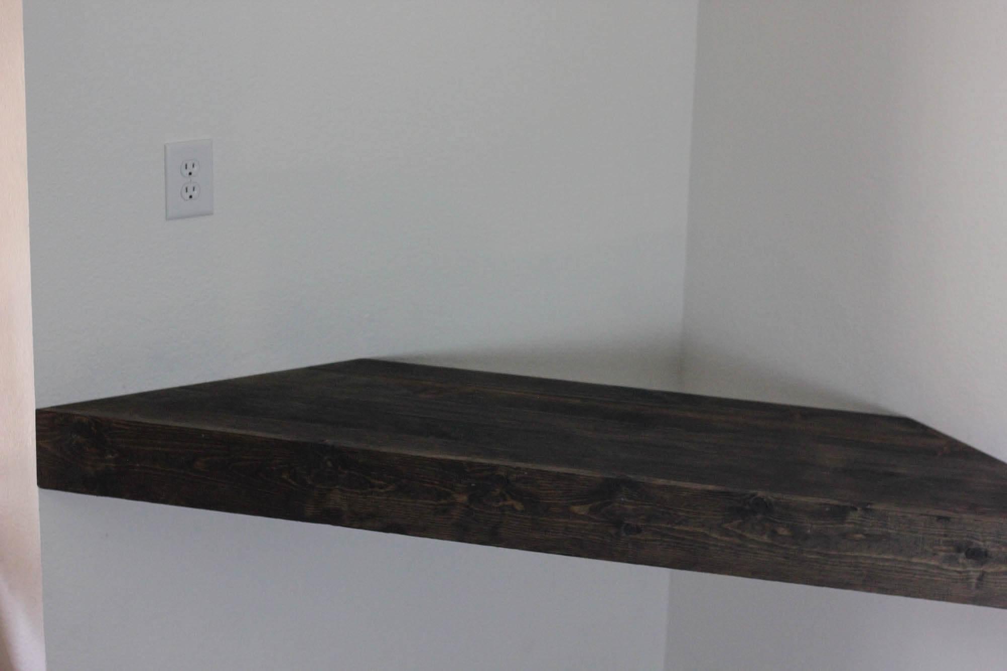 Diy Corner Floating Shelf Say No To